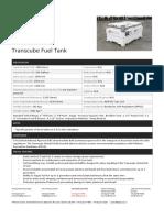 3000 Litre Transcube Fuel Tank