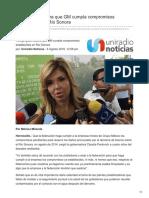06-08-2018-Exige Gobernadora Que GM Cumpla Compromisos Establecidos en Río Sonora - Uniradio