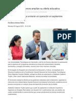 05-08-2018-UTH y UTS de Sonora Amplían Su Oferta Educativa - Tv Pacífico