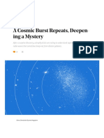 A Cosmic Burst Repeats, Deepening a Mystery