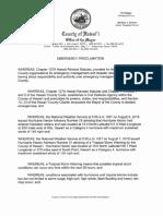 Emergency Proclamation