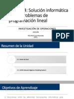 Unid 4 - Solución Informática de Modelos de PL