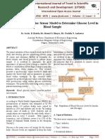 Design of Blood Monitor Sensor Model to Determine Glucose Level in Blood Sample