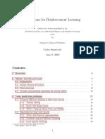 Algorithms for Reinforced Learning