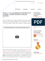 What's the Meaning of Estar en La Gloria_ Learn Spanish Online Lesson