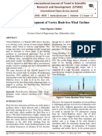 Design and Development of Vortex Blade less Wind Turbine