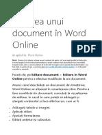 Editarea unui document în Word Online.docx