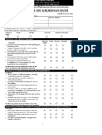Supervisor Rating Sheet