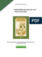 Grandmaster Preparation by Lev Polugaevsky
