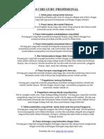 10 Ciri Guru Profesional
