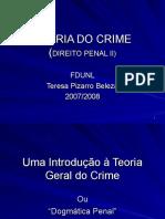 Docslide. 1 Teoria Do Crime Direito Penal II Fdunl Teresa Pizarro Beleza 20072008