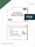 Introduction to Alarm Management Practices Principles Course