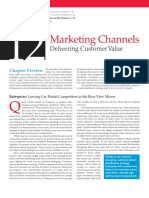 Chapter 12 - Marketing Channels Delivering Customer Value