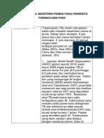 Review jurnal resistensi primer pada penderita tuberkulosis paru.docx