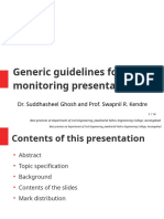 Guidelines document for final year project monitoring - Best practices