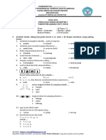 Soal Pas Tema 1 Kls 1 2016-2017