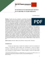 José Milton Rocha - A Internet Como Sustentáculo Dos Fios Que Tecem o Jornalismo Na História No Tempo Presente
