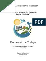 Documento de Trabajo XI Sínodo Arquidiocesis de Cordoba 2018 Compress