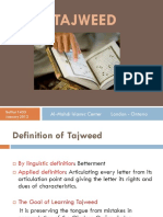 Tajweed Articulation Points
