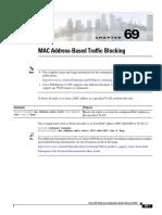 MAC Based Traffic Blocking