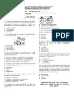 evaluacion de etica y valores 2 periodo grado 4°