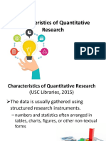 Characteristics and Importance of Quantitative Research