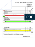 Annual Procurement Plan Excel