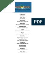 Lista de Cocteles