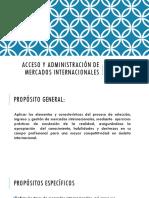 Sesion 1, Acceso y Administracion de Mercados Internacionales