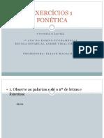 EXERCÍCIOS 1 fonetica