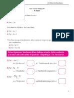 Guía Funcion Lineal y Afin