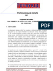 INC, 1eras JORNADAS DE PAISAJE CULTURAL, PATRIMONIO Y GESTIÓN DEL TERRITORIO