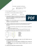 Lista de Matemática Eja 1 Ano
