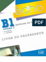 Écho B1 - Livre Du Prof
