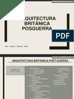 ARQUITECTURA BRITÁNICA POSTGUERRA