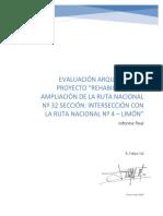 Informe Evaluación Arqueológica Ampliación Ruta 32