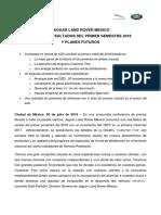 Boletin de Prensa - Conferencia de Prensa JUL 2018 Jaguar Land Rover México