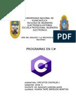 PROGRAMAS  EN C#.doc