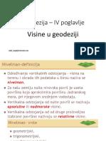 Geod Građ IV Visine