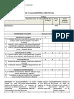 Pauta de Evaluación Formato Excéntrico