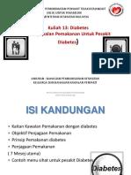 Kuliah 13 Pemakanan Untuk Diabetes (1)
