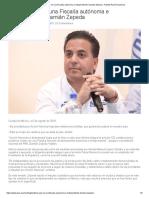 Insistirá PAN en Una Fiscalía Autónoma e Independiente Damián Zepeda - Partido Acción Nacional