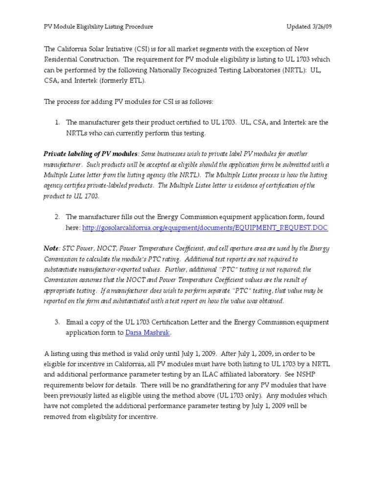 Pv eligibility procedure photovoltaics solar panel xflitez Choice Image