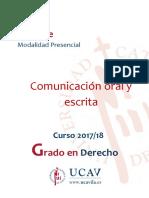 Comunicación Oral y Escrita - Universidad de Avila