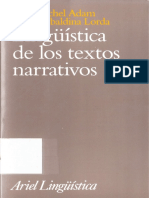 Lingüística de los textos narrativos (1)