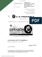 Los Alcances de La VII Legislatura