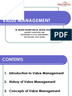 Introduction to Value Management