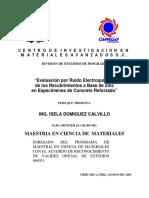 'Isela Domínguez Calvillo Maestría en Ciencia de Materiales