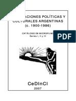 Catálogo de Publicaciones Políticas y Culturales Argentinas CEDINCI