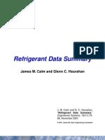 Refrig Data Summary